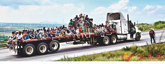 數以千計中美洲移民嘗試取道墨西哥進入美國。(圖源:AFP)