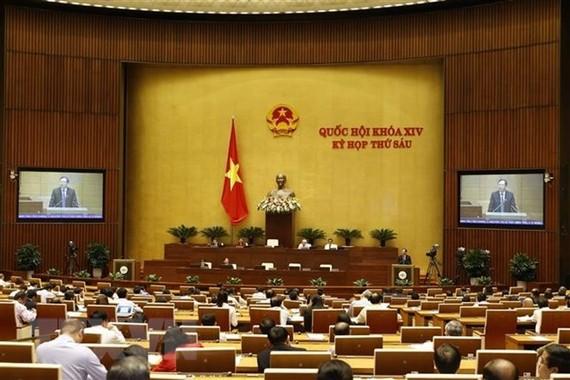 國會通過 GDP 增 6.6% 至 6.8% 指標。圖為國會會議現場一隅。(圖源:越通社)