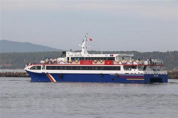 富貴Express高速船正式投入營運,為民眾和遊客服務。(圖源:越通社)