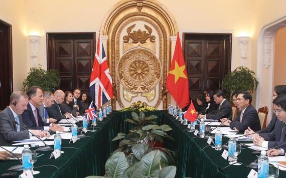 越英外交部副部長級政治諮詢會議現場。(圖源:林慶)