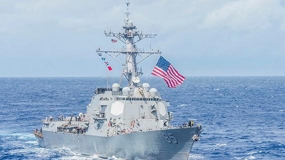 """美國的""""麥坎貝爾""""號(USS McCampbell)驅逐艦。(圖源:Business Insider)"""