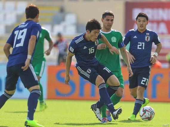 日本與土庫曼斯坦隊比賽一瞥。(圖源:互聯網)