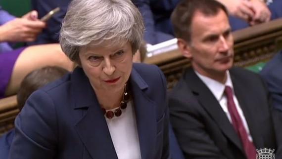 英國首相特蕾莎‧梅再度遭遇挫折。(圖源:AFP)