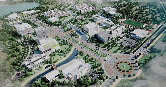 河內市國立大學建設總體規劃效果圖。(圖源:互聯網)