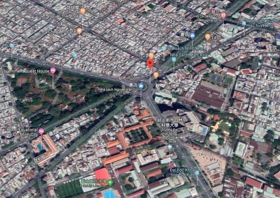 圖為阮文琚-雄王-陳富街交通樞紐。(圖源:谷歌地圖)