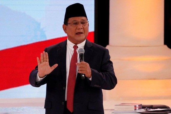 印尼2019年總統選舉候選人普拉博沃‧蘇比安托。(圖源:路透社)