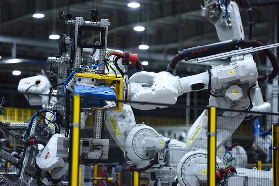 VinFast各生產分廠設有ABB自動機械人系統。