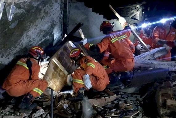 中國四川省宜賓市長寧縣17日深夜發生規模6.0強震,截至目前已造成13人死亡、200人受傷。(圖源:AFP)