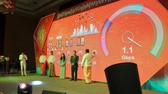 Viettel 集團旗下Mytel公司的5G技術正式亮相緬甸。(圖源:陳平)