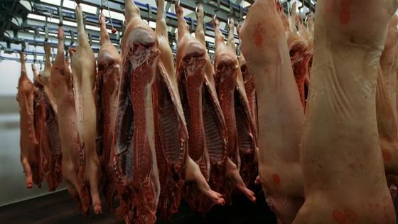 中国拟投放1万吨储备冻猪肉。(图源:Sputnik)