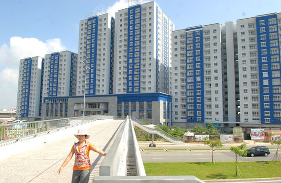 A new apartment block in District 8, HCMC (Photo: SGGP)