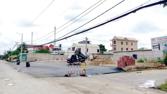 A land plot offered for sale in Bung Ong Thoan street, Phu Huu ward, district 9 (Photo: SGGP)
