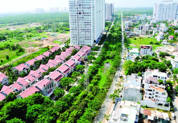 A residential area in Phuoc Kien commune, Nha Be district in the southern part of HCMC (Photo: SGGP)