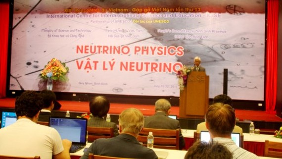 A ceremony was organized to establish Neutrino Group in Binh Dinh province on July 17 (Photo: SGGP)