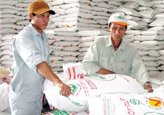 Workers carry sugar bags at a warehouse in the Mekong Delta (Illustrative photo: SGGP)