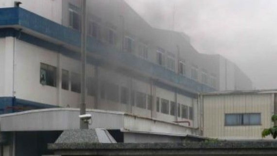 A fire occurs at Seiyo Company, Bac Ninh province without human loss (Photo: VNA)