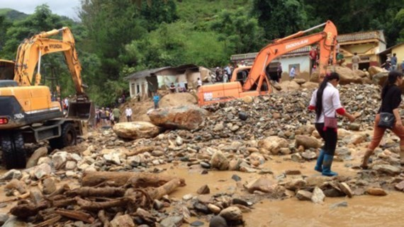 Mu Cang Chai district, Yen Ban province has been heavily damaged in heavy rain triggered flash flood last week (Photo: SGGP)