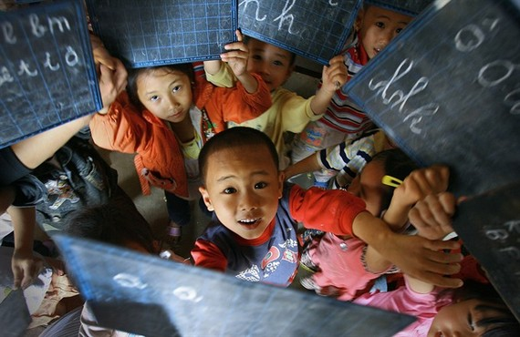 Primary school students in Hanoi's Chuong My District. (Photo: VNS)