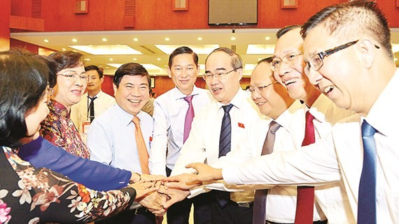 HCMC leaders at the sixth session of the city People's Council, wrapping up on December 7 (Photo: SGGP)