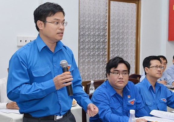 Director of HCMC Young Science and Technology Center Doan Kim Thanh speaks about talent attraction at the conference (Photo: SGGP)