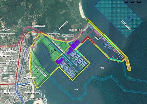The 1:500 scale plan of Lien Chieu port