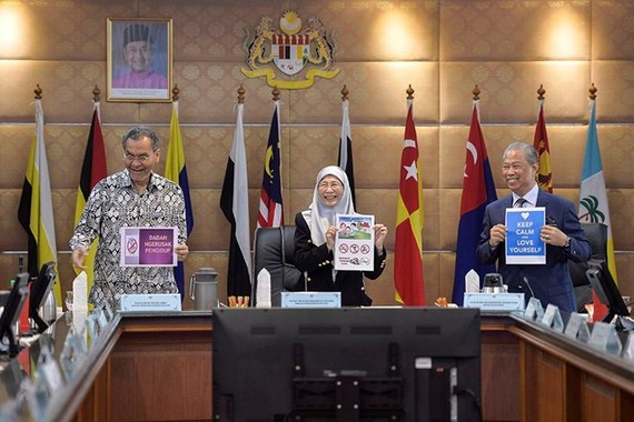 Deputy Prime Minister Wan Azizah Wan Ismail (C) chairs a cabinet meeting in Putrajaya January 17, 2019 (Source: malaymail.com)