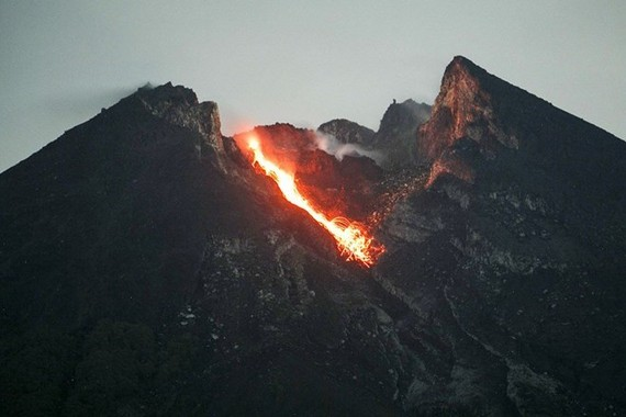 Mount Merapi is the most active volcano in Indonesia (Photo: Jakarta Post)