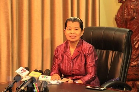 Cambodian Deputy Prime Minister Men Sam An (Photo: VNA)