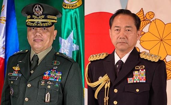 Chief of Staff of Japan's Ground Self-Defense Force Gen. Koji Yamazaki (R) on March 4 met with his Philippine counterpart Maj. Gen. Macairog Alberto (Source: news.mb.com.ph)
