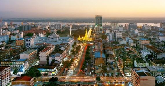 A corner of Yangon city in Myanmar (Source: internet)