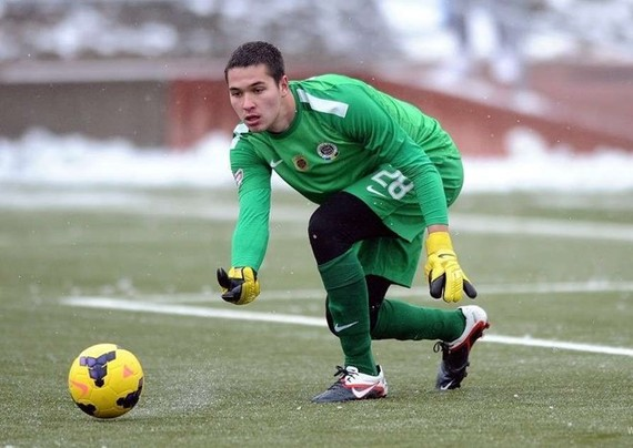 Czech-Vietnamese goalkeeper Filip Nguyen (Photo sparta.cz)