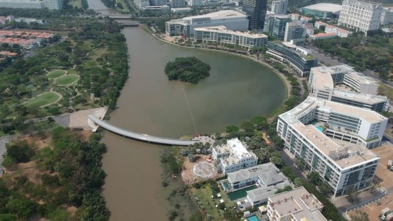 A view of Crescent Lake in District 7, HCMC (Photo: SGGP)