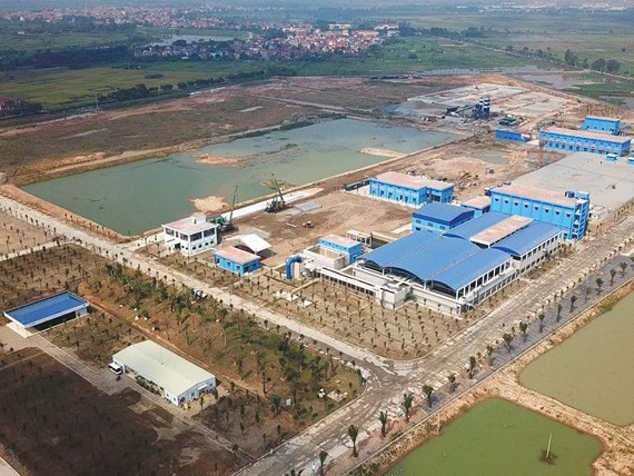 Duong River Surface Water Plant project in Hanoi receives investment from Germany. (Photo: SGGP)