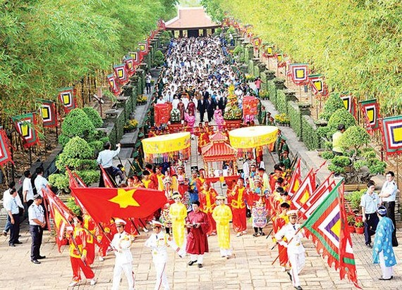 A Hung Kings commemoration ceremony in District 9, HCMC (Photo: SGGP)