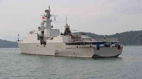 Naval ship HQ 012-Ly Thai To (Source: thanhnien.vn)