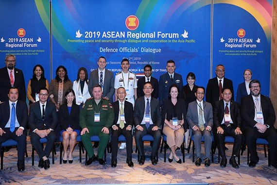 Defence officials from members of the ASEAN Regional Forum, meet in Seoul on May 2 to discuss regional security issues. (Photo: Yonhap)