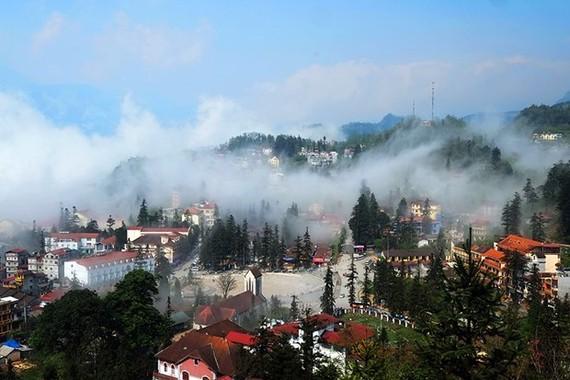 A corner of Sa Pa town (Photo: VNA)