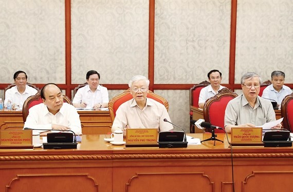 Party General Secretary, President Nguyen Phu Trong on May 15 presided over a meeting of the Political Bureau in Hanoi  (Photo: VNA)