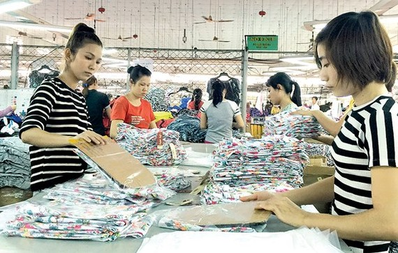 Workers at a garment firm in HCMC (Illustrative photo: SGGP)