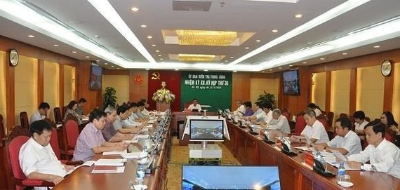 At the 36th session of the Party Central Committee's Inspection Commission (Photo: VNA)
