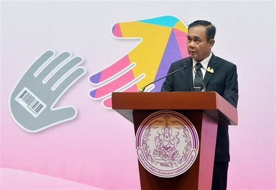 Thai Prime Minister Prayut Chan-o-cha commits to work for the nation following his re-election as the prime minister. (Photo: Xinhua/VNA)