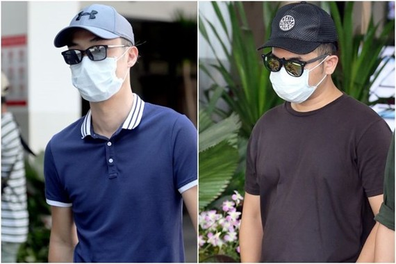 Tay Miow Seng (left), 40, and Ed Chen Junyuan, 37, were charged in court with operating a drone at an open field within 5km of Paya Lebar Air Base without a permit. (Photo: straitstimes.com)