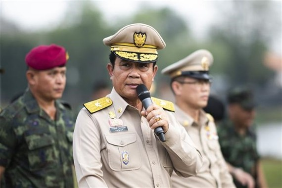 Thailand's junta chief General Prayut Chan-o-cha  speaks at the Lopburi military base in December 2019 (Photo: AFP/VNA)