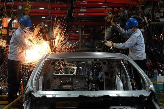 An automobile assembly plant of Ford in Hai Duong province (Photo: AFP)
