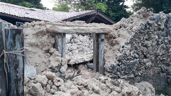 The earthquakes damaged homes in Batanes.  (Photo: BBC)