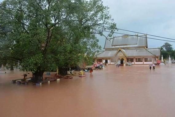 Flooding in Khammouane province (Source: https://laotiantimes.com)
