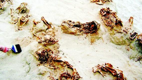 Phát hiện mộ cổ trẻ em ở Peru