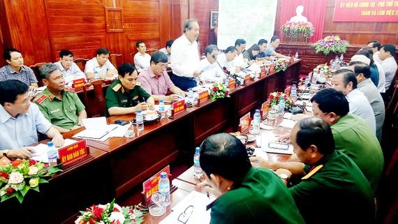 Phó Thủ tướng Trương Hòa Bình phát biểu chỉ đạo tại buổi làm việc với lãnh đạo tỉnh Bình Phước
