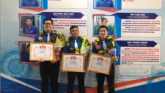 3 thanh niên tiêu biểu của Sawaco  nhận giải thưởng Nguyễn Văn Trỗi năm 2018