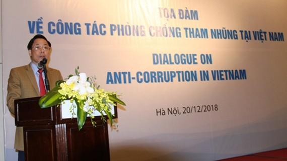 Phó Tổng Thanh tra Trần Ngọc Liêm phát biểu tại tọa đàm.